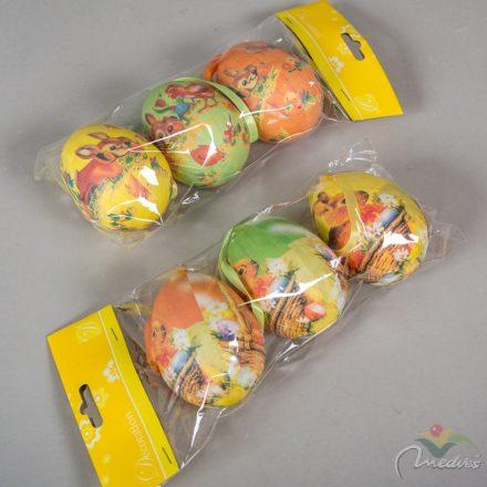Mintás húsvéti hungarocell tojás 9cm 3db-os