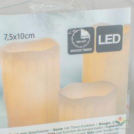 LED-es gyertya (elem nélkül) 75x100mm