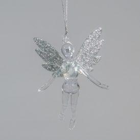 Akasztós balerina ezüst glitteres 12cm