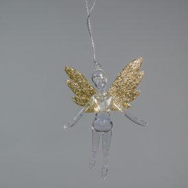 Akasztós bellerina arany glitteres 12cm