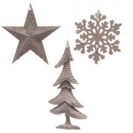 Akasztós karácsonyi dísz rózsaszín 9-14cm