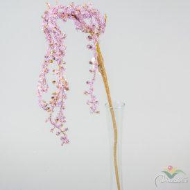 Strasszos ág rózsaszín 100cm