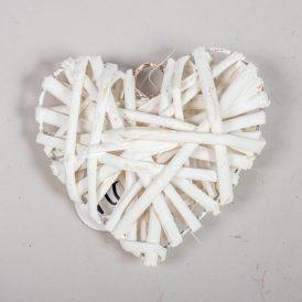 Vessző alap tele szív fehér 10cm