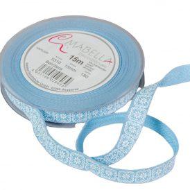 Textil szalag BANDIERA kék  15mm*15m