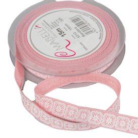 Textil szalag BANDIERA rózsaszín  15mmx15m