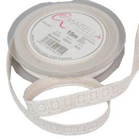Textil szalag BANDIERA krém 15mmx15m