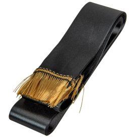 Koszorú szalag 5x150cm fekete-arany 10db/csom (db ár)