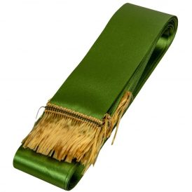 Koszorú szalag 5x150cm keki zöld-arany 10db/csom (db ár)