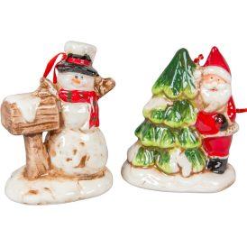 Akasztós karácsonyi kerámia figura M9cm