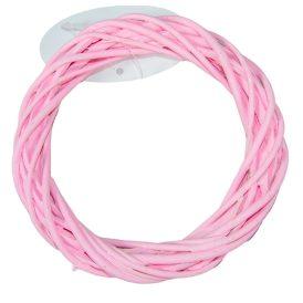 Vessző alap rózsaszín  D15cm