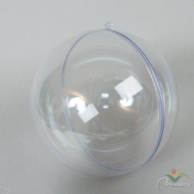 Müanyag átlátszó gömb 2 részes D20cm