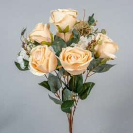 Rózsa,hortenzia  csokor 9v. M51cm 24db/#