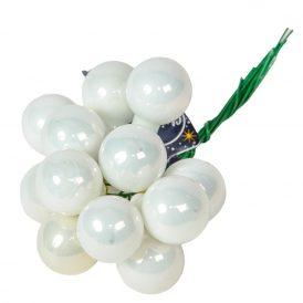 Üveg gömb téli fehér 2cm 12db-os