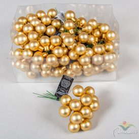 Üveg gömb világos arany matt 2cm 12db-os