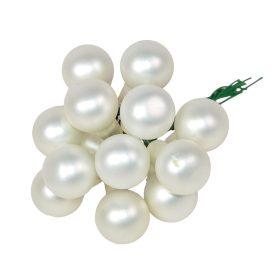Üveg gömb téli fehér matt 2cm 12db-os