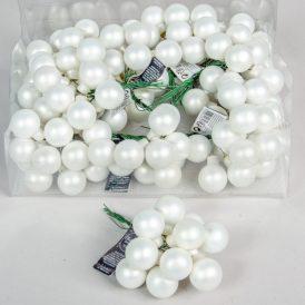 Üveg gömb  fehér matt 2,5cm 12db-os
