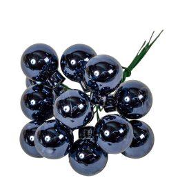 Üveg gömb éj kék 2cm 12db-os