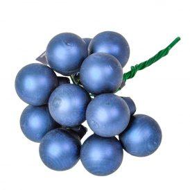 Üveg gömb éj kék fényes 2cm 12db-os