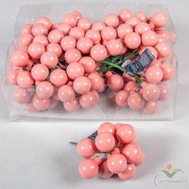 Üveg gömb cukorka rózsaszín 2,5cm 12db-os