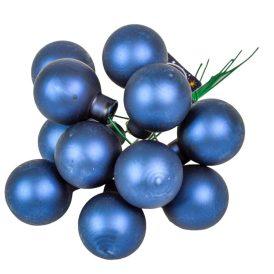 Üveg gömb éj kék matt 2,5cm 12db-os
