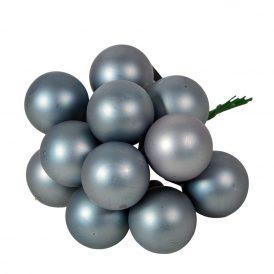 Üveg gömb kő kék matt 2,5cm 12db-os