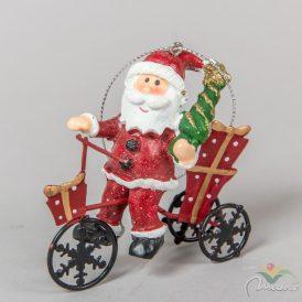 Akasztós fém biciklis karácsonyi figura  7cm