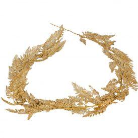 Arany leveles girland 180cm