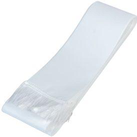 Koszorú szalag 7x200cm fehér-fehér 10db/csom (db ár)