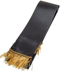 Koszorú szalag 7x200cm fekete-arany 2db/csom (db ár)
