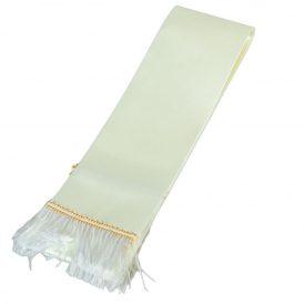 Koszorú szalag 7x200cm ekrü-fehér 2db/csom (db ár)
