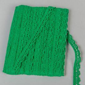 Csipke szalag pamut zöld 1cmx18,29m