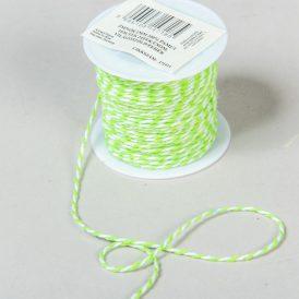 Zsinór  világos zöld-fehér 1mmx10m