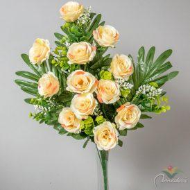 Rózsa csokor féloldalas 12v. M65cm 6db/#