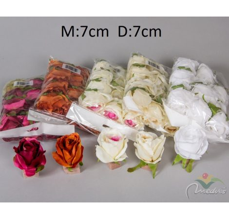 Rózsa virágfej 12db/szín/csom