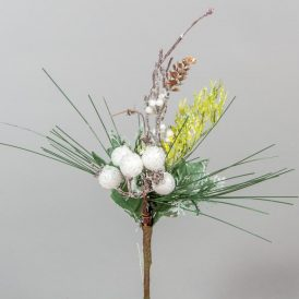 Fehér bogyós pick 22cm