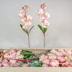 Orchidea szálas M75cm pink/green/mauve 144db/#