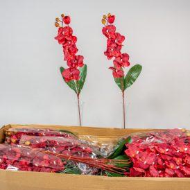 Orchidea szálas M75cm dk. red 144db/#