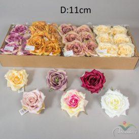 Nylít rózsa virágfej 6db/szín/csom Egész csomagra rendelhető4