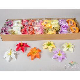 Liliom fejvirág 24db/szín/csom  Egész csomagra rendelhető!