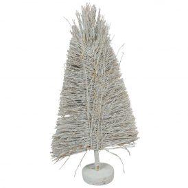 Bambusz vessző fenyő forma fehér M60cm