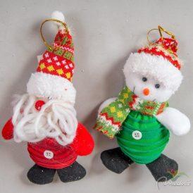 Akasztós karácsonyi textil figura 14cm