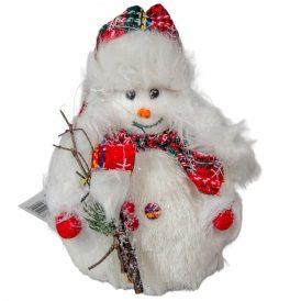 Hóember sállal, seprűvel M17cm
