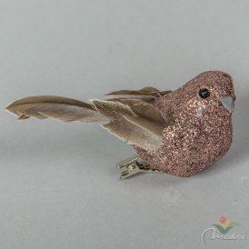 Glitters madár réz 9cm