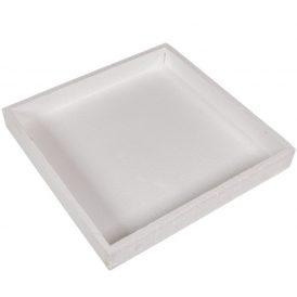 Fa tálca peremmel fehér 30x30x4cm
