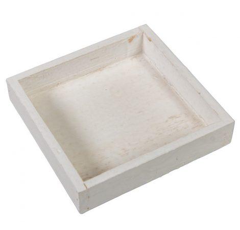 Fa tálca peremes fehér 1M3x14x14cm