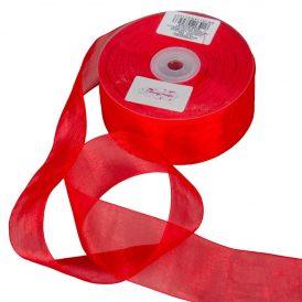 Organza szalag Red 40mmx50m