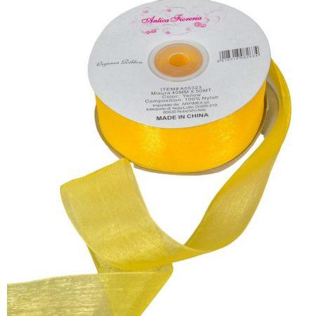 Organza szalag Yellow 40mmx50m