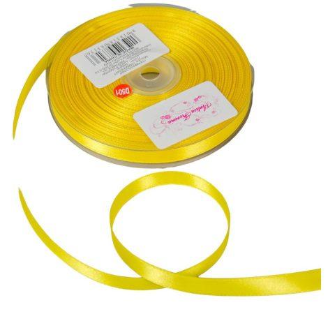 Szatén szalag Yellow 10mmx50m