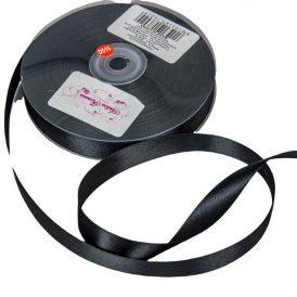 Szatén szalag Black 16mmx50m