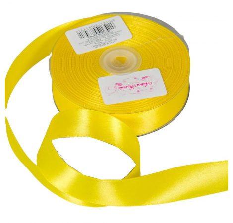 Szatén szalag Yellow 25mmx50m